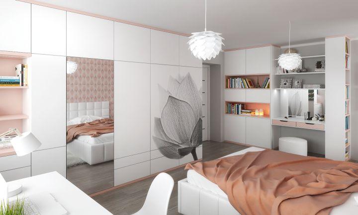 Bytový architekt v ložnici